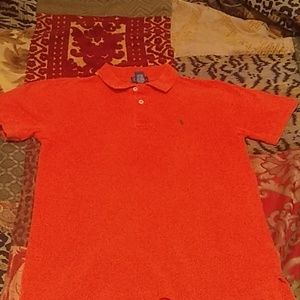 Boys Ralph Lauren Orange short sleeve Polo